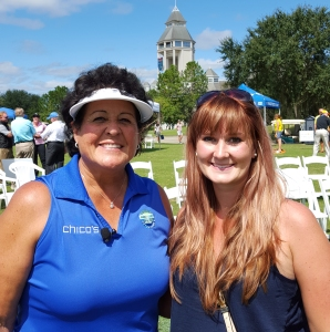 Nancy Lopez and Leslie Fischer at the Golf Festival at World Golf Village.